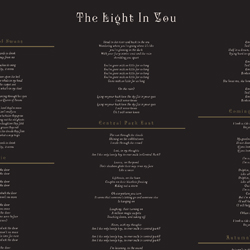 The Light In You Inner Sleeve